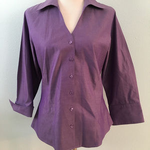 Coldwater Creek Purple Button Down Shirt